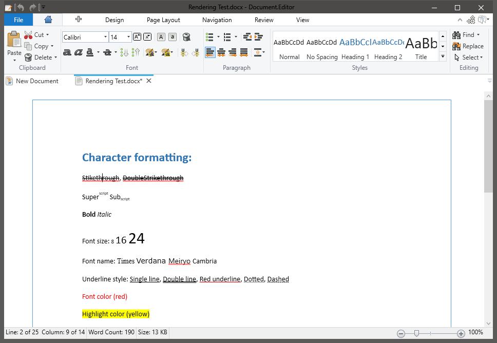 Document.Editor full screenshot